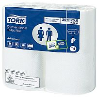 Tork Conventional Toilet Roll White 200 Sheet (Pack of 36) 472150