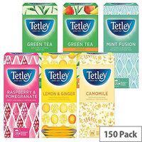 Tetley Fruit and Herbal Tea Starter Pack of 6 x 25 1581X