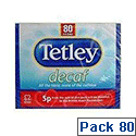 Tetley Decaffeinated Tea Bag Pack of 80 5012X