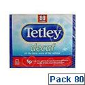Tetley Decaffeinated Tea Bag Pack of 80 5012X