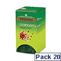 Twinings Cranberry Green Tea F08046 Pk20