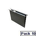 Rexel Crystalfile Foolscap Heavy Duty Suspension File 15mm Black Pack of 10