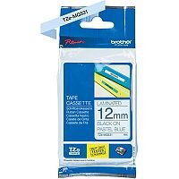 Brother TZe-MQ531 Labelling Tape Cassette Black on Pastel Blue 12mm Wide