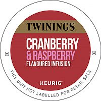 Twinings Cranberry & Raspberry Infusion Tea 10 K-Cup Pods for Keurig K140 & K150 93-17505