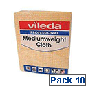 Vileda Medium Weight Cloth Yellow Pk10