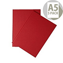 Whitebox A5 Indexed Ruled Manuscript Book Pack of 5 WX01064