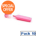 HiGlo Highlighter Pink Pack 10 WX01112