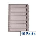 A4 Mylar Index 1-10 White WX01528