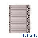 A4 Mylar Index 1-12 White WX01529