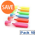 HiGlo Highlighter Assorted Colors Pack of 10 WX16351A