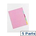 A4 Manilla Divider 5-Part Multi-Colour WX26081
