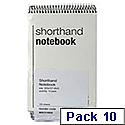 Spiral Shorthand Notebook 80 Leaf 10 Pack WX31003