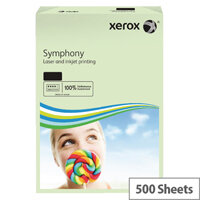 Xerox Symphony A3 80gsm Pastel Green Coloured Copier Paper Pack 500 003R91955
