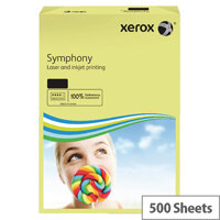 Xerox Symphony A3 80gsm Pastel Yellow Coloured Copier Paper Pack 500 003R91957