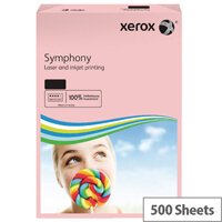 Xerox Symphony A3 80gsm Pastel Pink Coloured Copier Paper Pack 500 003R92261