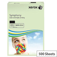 A4 Pastel Green 80gsm Paper Pack of 500 Xerox Symphony