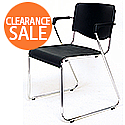 Amigo Lightweight Stacking Chair With Arms Polypropene Black