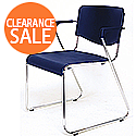 Amigo Lightweight Stacking Chair With Arms Polypropene Blue