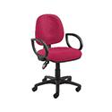 Arista Concept Medium Back Permanent Contact Operators Chair Claret KF03454
