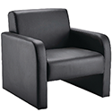 Arista Leather Look Black Reception Armchair Black