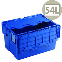Attached Lid Container 54 Litre Blue 375815