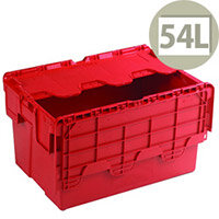 Attached Lid Container 54 Litre Red 375816