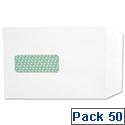 Basildon Bond Window C5 White Envelopes Peel and Seal Pocket Pack 50 Ref M80278