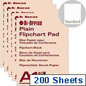 Bi-Office A1 Flipchart Pad Recycled Plain Pack of 5 FL011501