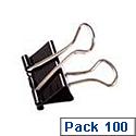 Clipper Foldback Clip 19mm Black Pack of 100 22481