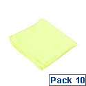 Contico Microfibre Cloth 34x34cm Yellow Pack of 10 EM34YL