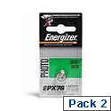 Energizer Speciality Silver Oxide Battery SR44/EPX76 Pack of 2 611337