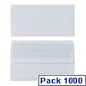 Envelope DL 80gsm White Self-Seal Pack of 1000 WX3454