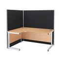 Jemini Floorstanding Screen 1200mm x 1600mm Black KF73934