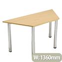 Trapezoidal Meeting Room Table Standard Leg Beech Jemini