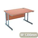 Jemini Intro 1200mm Rectangular Cantilever Desk Beech