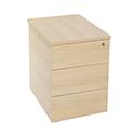 Jemini Intro Desk High Pedestal D600 Warm Maple