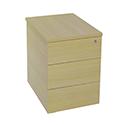 Jemini Intro Desk High Pedestal D800 Ferrera Oak