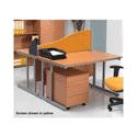 FF Jemini Wave Desk Screen 800mm Black KF73921