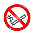 General Domed Sign No Smoking Symbol 60mm