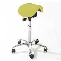 Mini Easymek Seat Saddle Stool With Easy Clean Green 3D Runner Seat Upholstery H570 -760mm