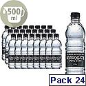 Harrogate Spring Bottled Water Still 500ml PET Black Label/Cap Pack of 24