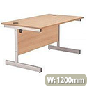 Jemini 1200mm Cantilever Rectangular Desk Beech KF838075