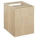 Jemini 2-Drawer Fixed Pedestal Maple KF72077
