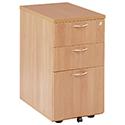 Jemini 3-Drawer Desk High Pedestal 600mm Beech KF72069