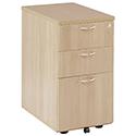 Jemini 3-Drawer Desk High Pedestal 600mm Maple KF72071