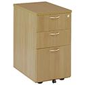 Jemini 3-Drawer Desk High Pedestal 600mm Oak KF72070