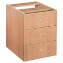 Jemini 3-Drawer Fixed Pedestal Beech KF72078
