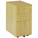 Jemini 3-Drawer Under-Desk Pedestal Oak KF72088