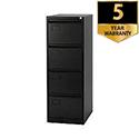 4-Drawer Filing Cabinet Black Jemini By Bisley