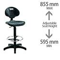 Jemini Factory Chair Black